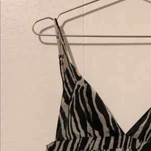 Zebra baby doll dress